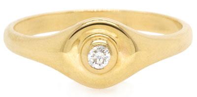 Zoe Chicco round signet ring