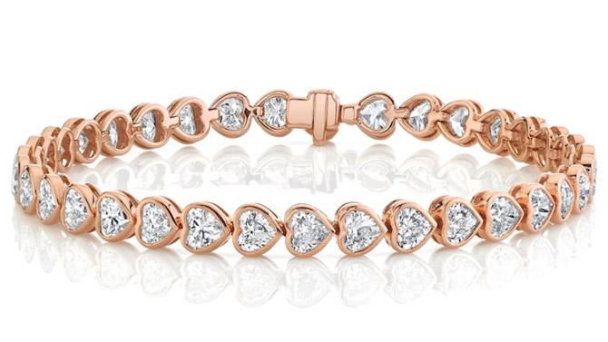 Anita Ko heart tennis bracelet