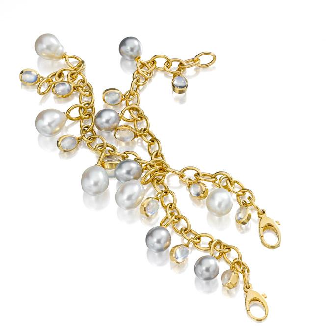 Assael pearl charm bracelet