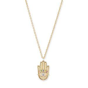 Brent Neale hamsa hand gold pendant