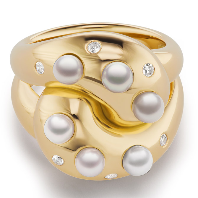 Brent Neale pearl Knot ring