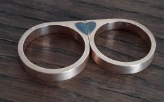 Catarino Jewels heart wedding bands