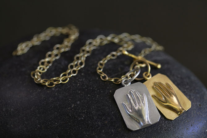 Cathy Waterman hand in yours charm