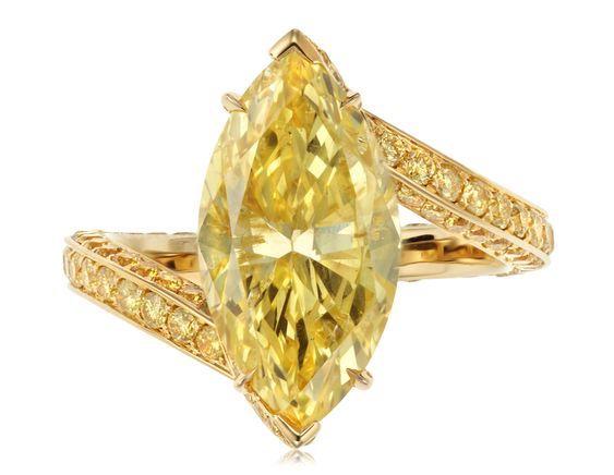 Christies yellow diamond ring