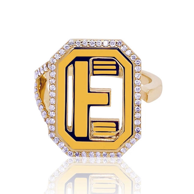 Colette Gatsby diamond initial ring