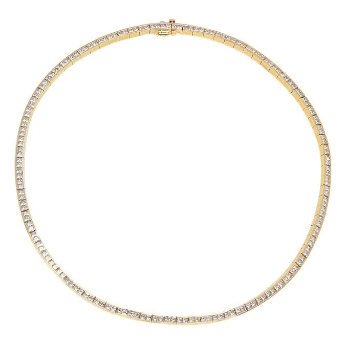 Established diamond tennis necklace
