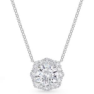 Forevermark halo diamond pendant