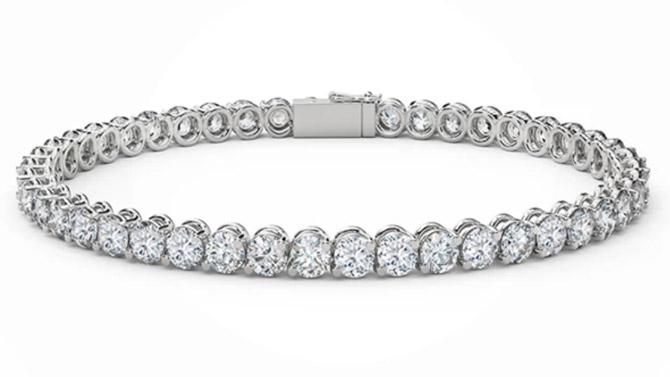 Forevermark diamond lattice bracelet
