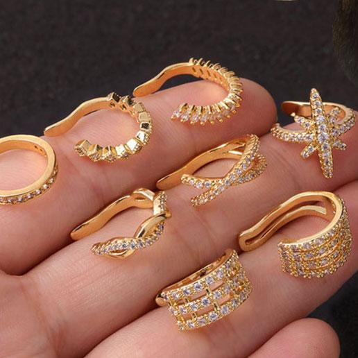Gem Orbit ear cuffs