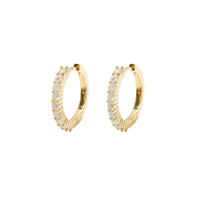 Gorjana diamond hoops