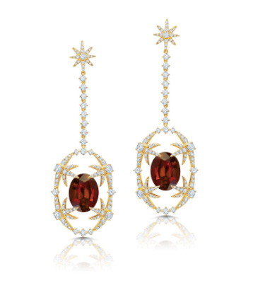 Graziela Citrine Starburst earrings