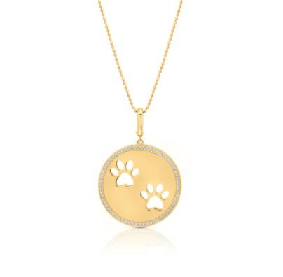 Graziela Paw Circle pendant