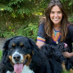 Graziela and dog