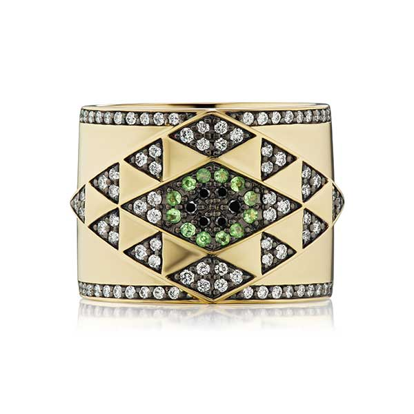 Harwell Godfrey evil eye gold ring