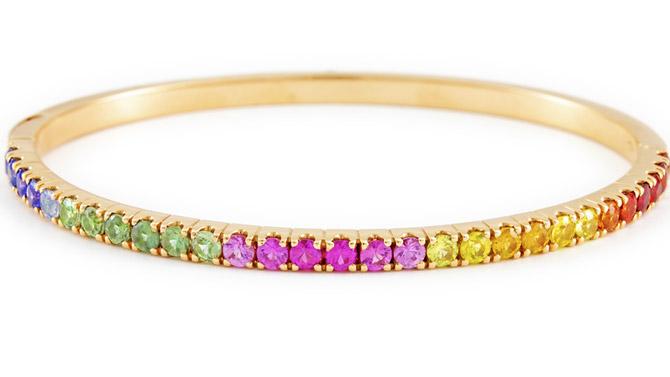 Italgold rainbow bangle