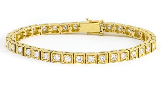 Jenna Blake diamond box link bracelet