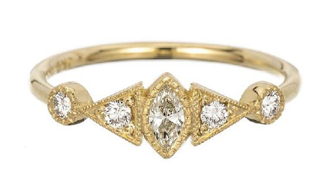 Jennie Kwon marquise Duo Deco ring