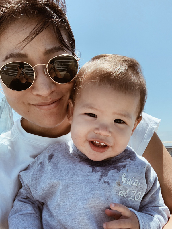 Jennie Yoon and son
