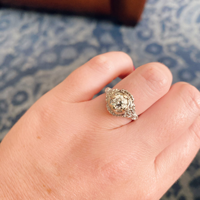 Joint Venture Jewelry vintage engagement ring