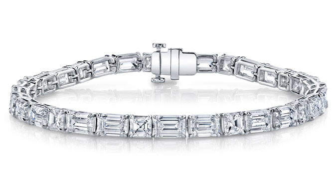 Joshua J diamond tennis bracelet