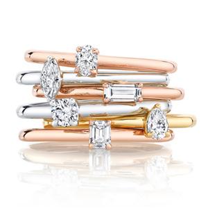 La Petite stackable rings Oui by Jean Dousse