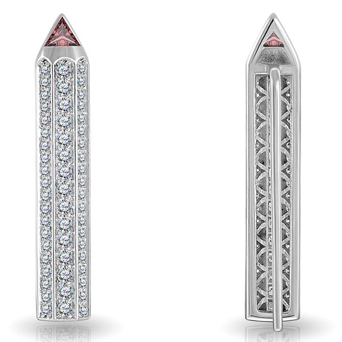 Maya Gemstones Pencil earrings