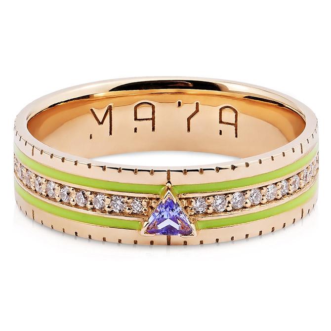 Maya Gemstones Ruler ring