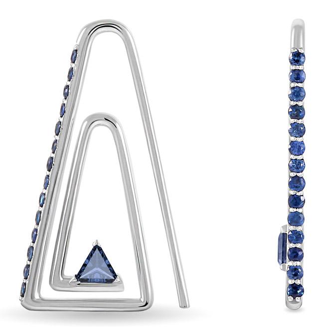 Maya Gemstones paper clip earrings