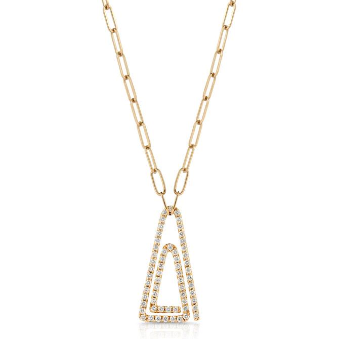 Maya Gemstones paper clip pendant