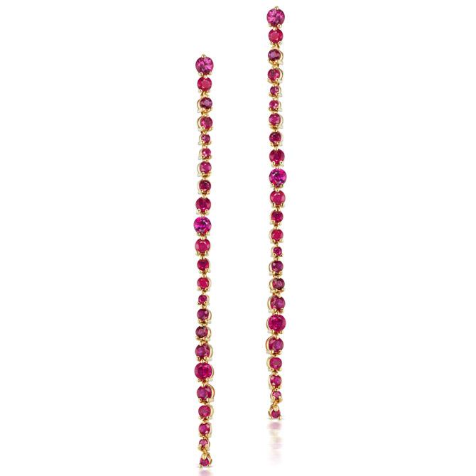 Michelle Fantaci Amaranthus ruby earrings