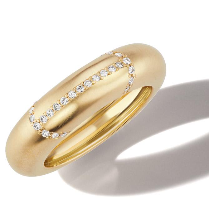 Michelle Fantaci domed band ring