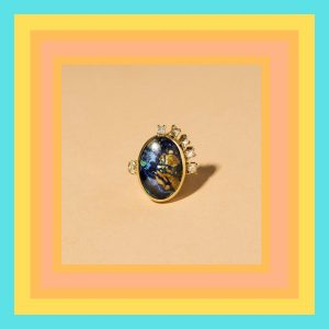 Mociun malachite ring