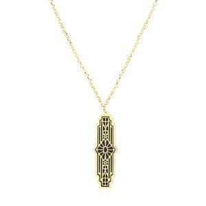 Royal Chain gold art deco pendant
