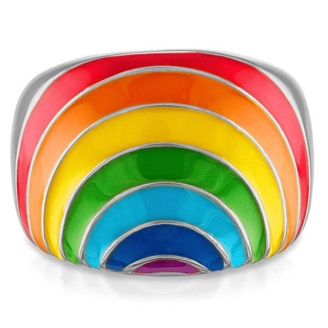 Stephanie Gottlieb rainbow enamel ring