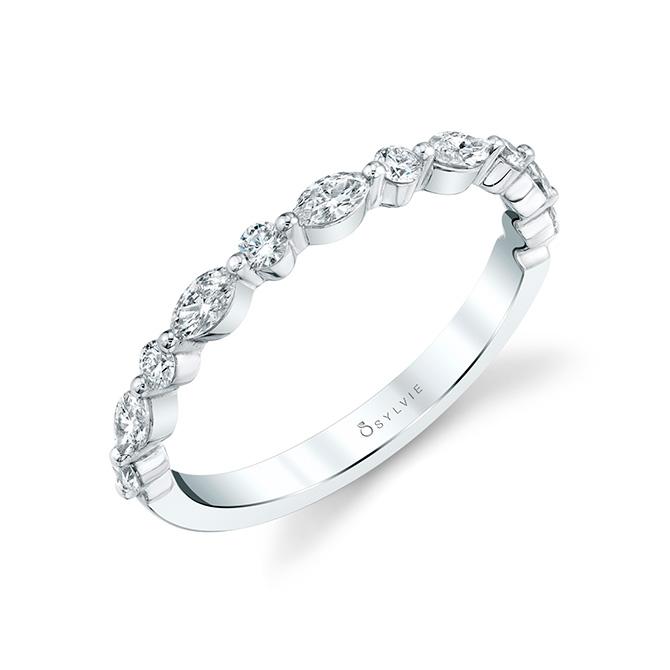 Sylvie Designs marquise diamond band