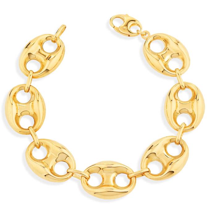 Unoaerre puffed yellow gold bracelet