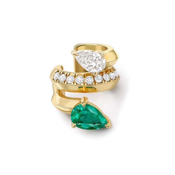 Valani Atelier x Gemfields emerald ear cuff