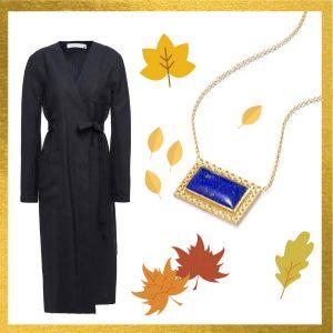 Victoria Beckham coat Elizabeth Moore necklace