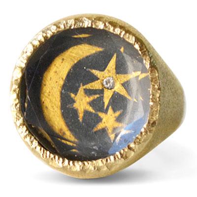 Acanthus celestial sky talisman signet ring