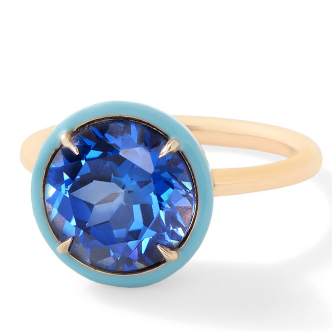 Alison Lou sapphire cocktail ring