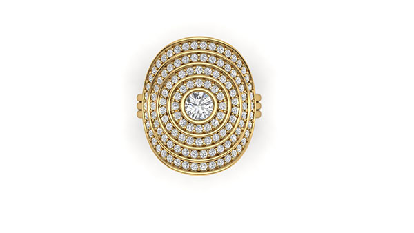 Almasika Sagesse Universum gold and diamond ring