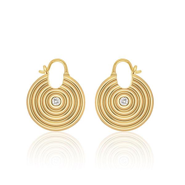 Almasika Sagesse Universum gold earrings