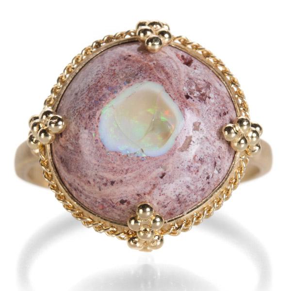 Amali Mexican fire opal ring