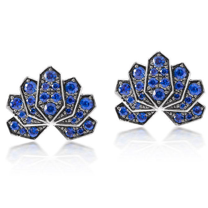 Ananya Lotus stud earrings