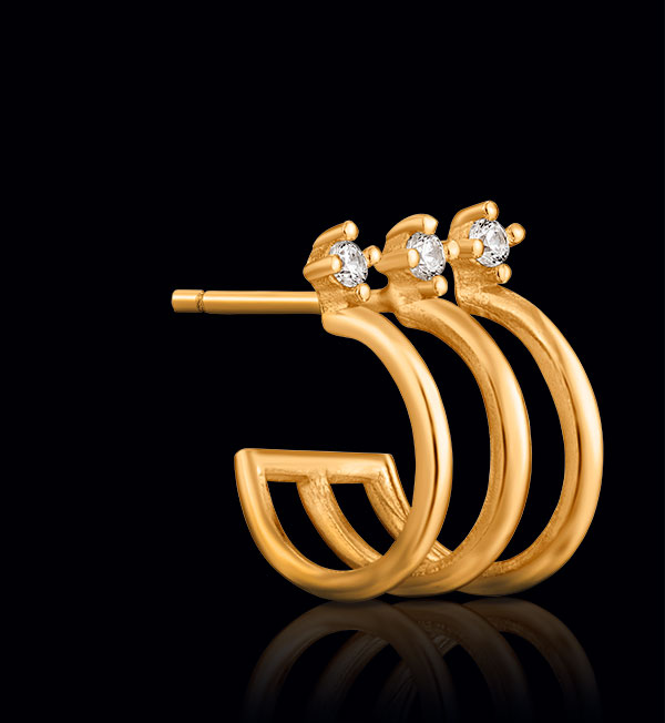 Ania Haie triple mini hoop earring