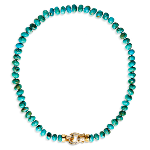 Anne Sisteron turquoise bead necklace