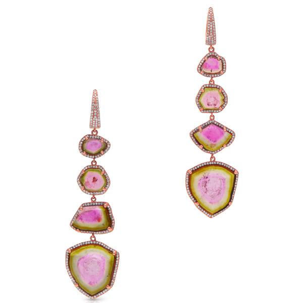 Anne Sisteron watermelon tourmaline earrings