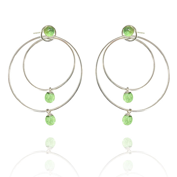 Aur Jewelry Triple Shift earrings
