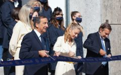 Buccellati ribbon cutting