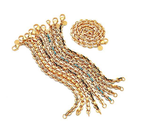 Buddha Mama enamel pave bracelets